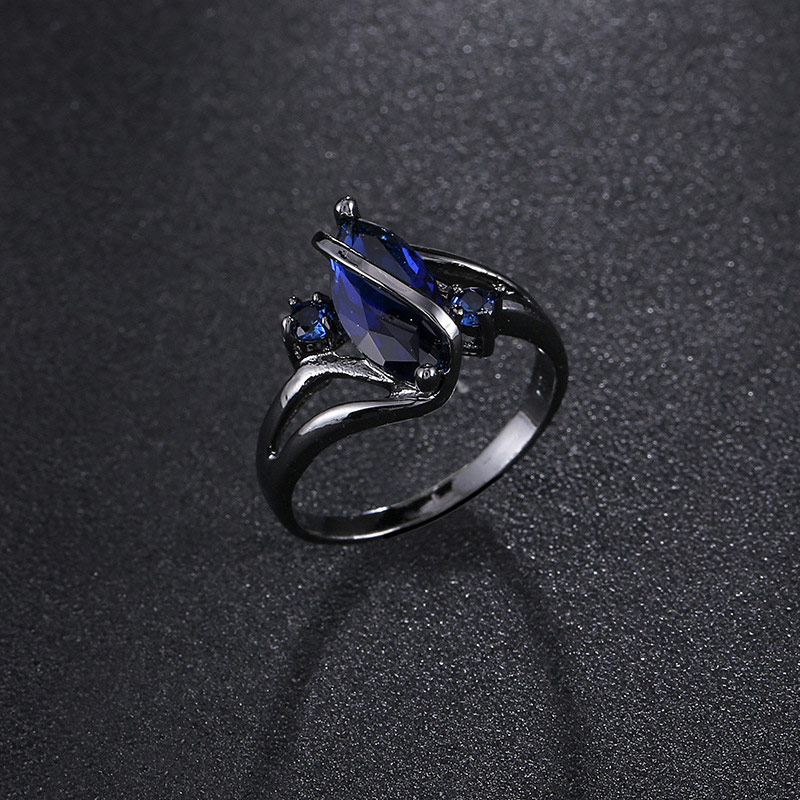 Fashion Women Stone Ring Alloy Crystal Rings Wedding Valentine's Jewelry Gifts KQS8