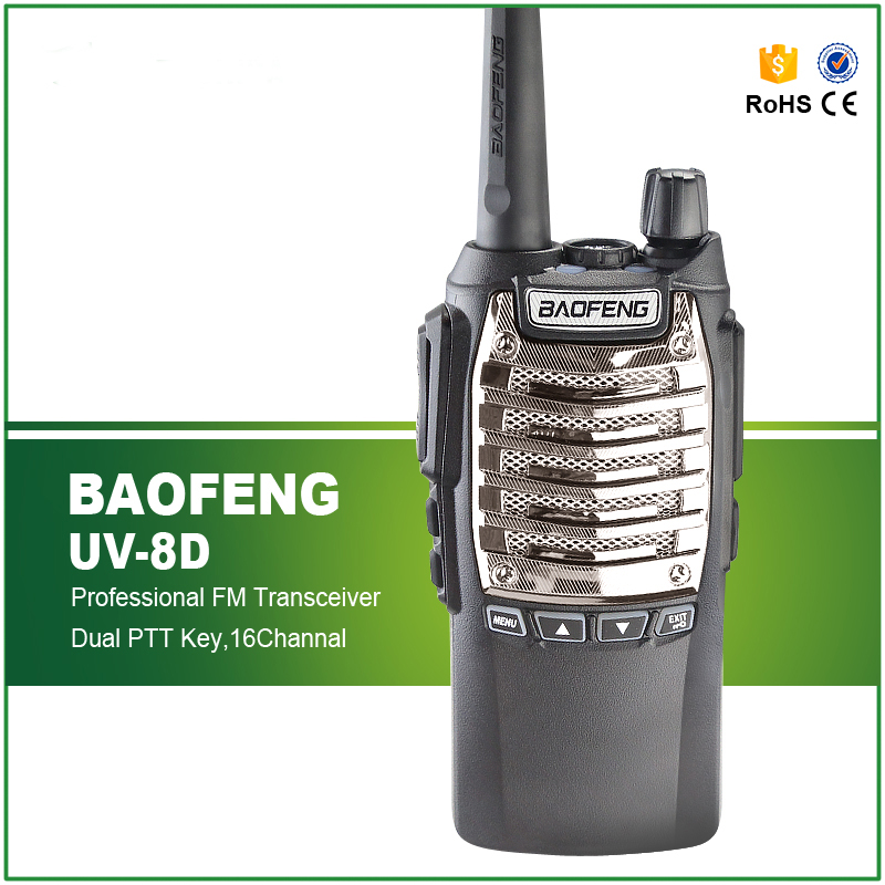 Walkie Talkie BF-UV8D Çift PPT 2-Way Radyo UHF 8 W El Telsiz