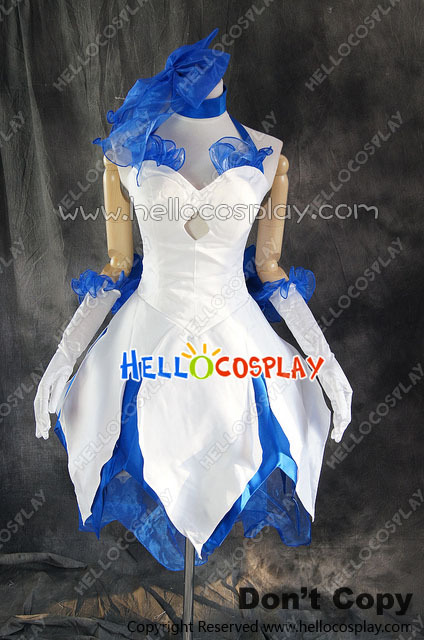 Fate Stay Night Cosplay Saber Lily Elbise Kostüm H008