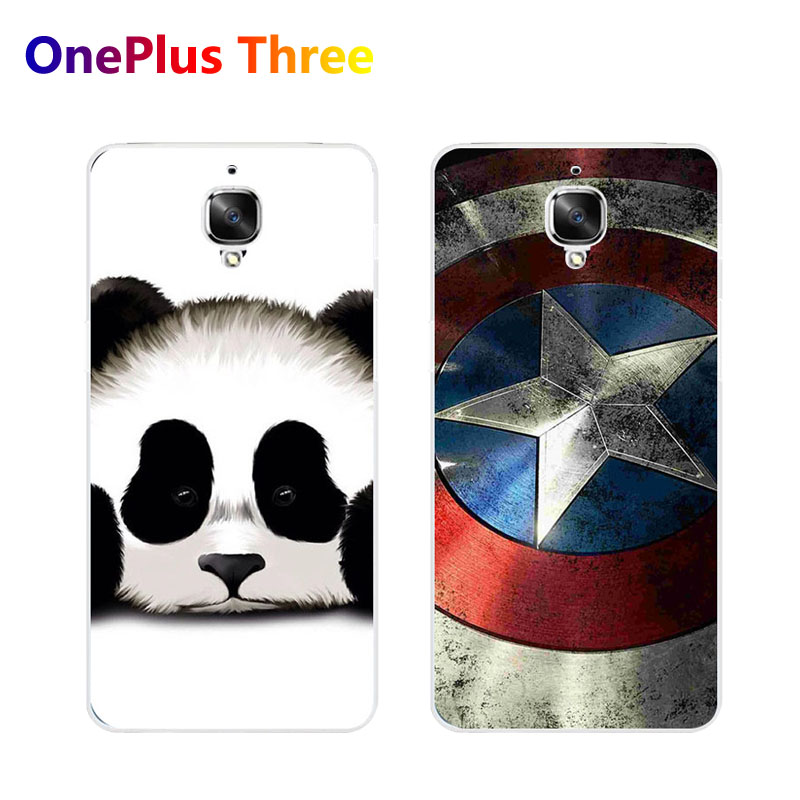 Oneplus 3t A3010 Case,Silicon panda Painting Soft TPU Back Cover for Oneplus three 3 A3000 Phone Protect Case shell