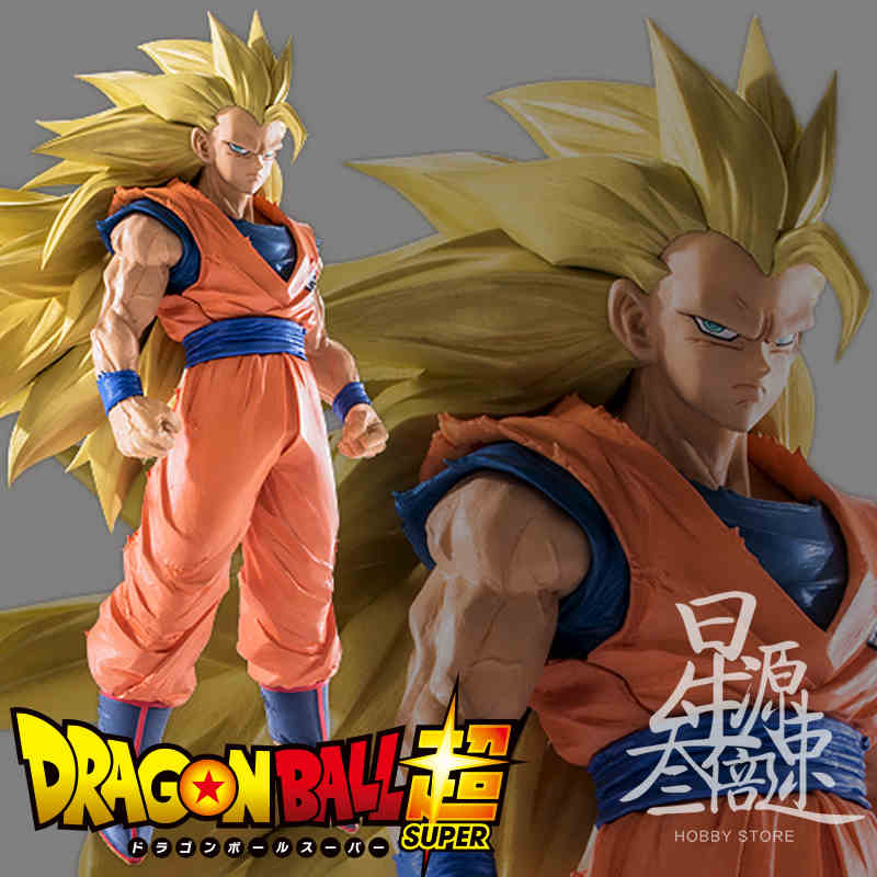 Dragon Ball Z Süper Saiyan 3 Son Gokou Banpresto Dragon Ball Z Budokai 6 PVC Action Figure Koleksiyon Model Oyuncak orijinal