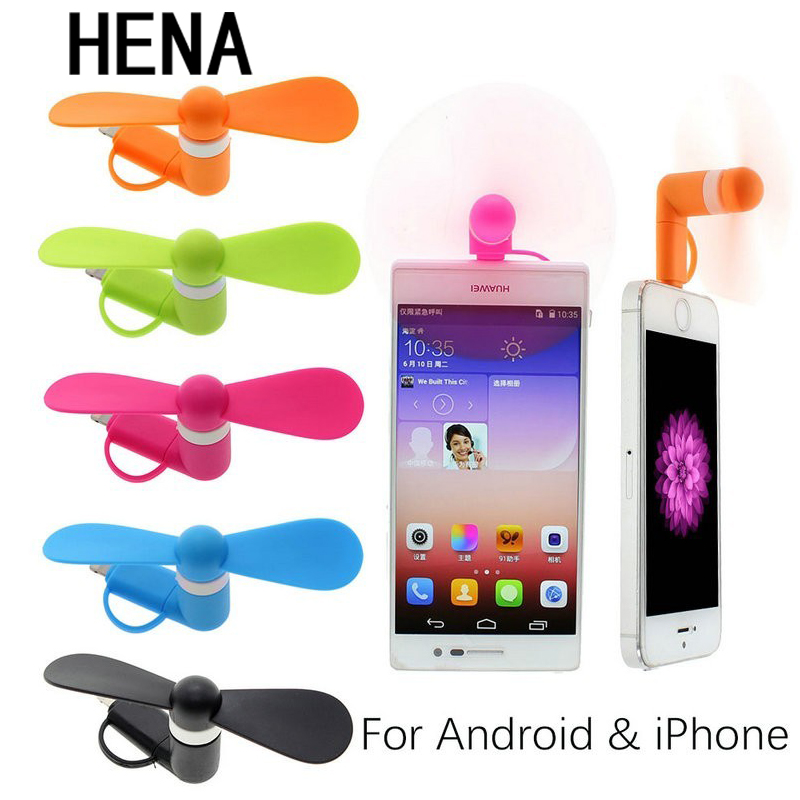 HENA Mini Taşınabilir Serin Mikro USB Fan Cep Telefonu USB Gadget Fanlar test Için Apple iphone 5 5 s 6 6 s 7 Android Xiaomi USB FAN