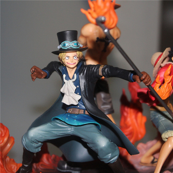 Tobyfancy Anime One Piece Action Figure Üç Kardeş DXF Sabo Luffy Ace PVC Onepiece Koleksiyon Model Oyuncak