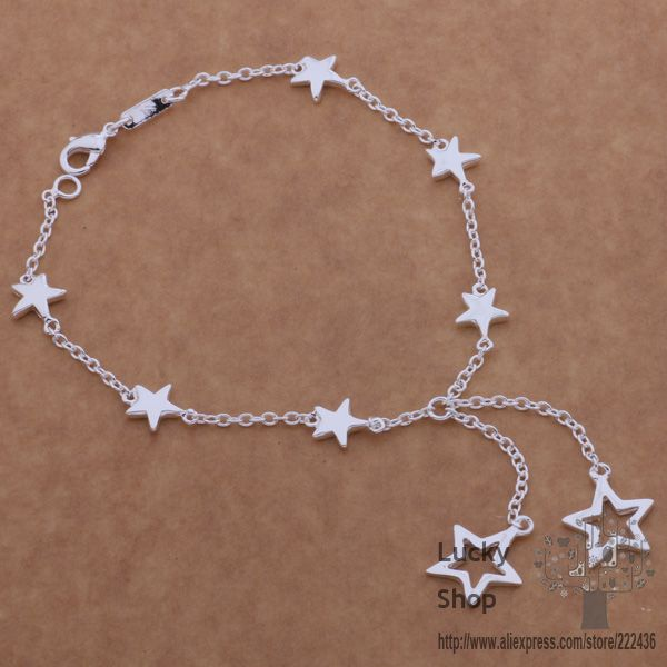 AH152 925 sterling silver bracelet, 925 sterling silver fashion jewelry All small five-pointed star /azqajqxa erianipa