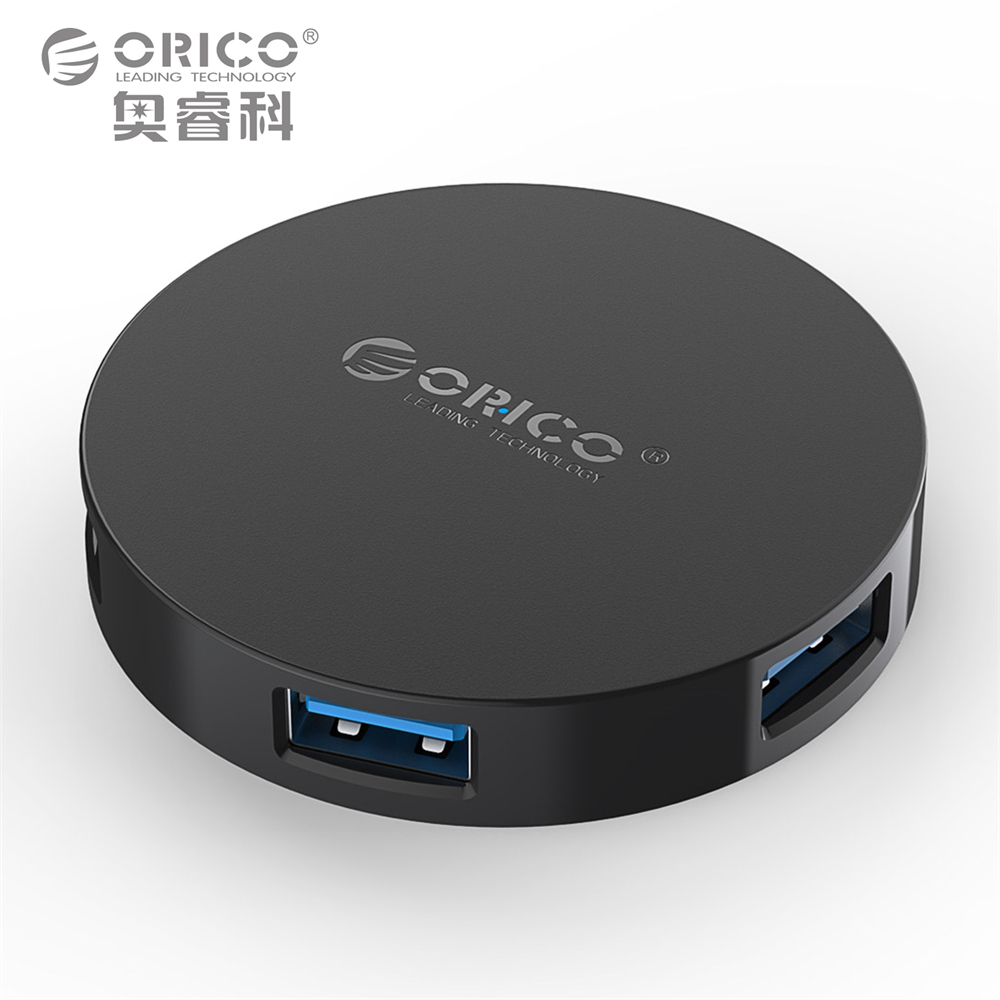 ORICO Süper Hız 4 Port HUB USB 3.0 Taşınabilir OTG hub usb Splitter için LED Lamba ile Yeni Apple Macbook Hava Laptop PC Tablet